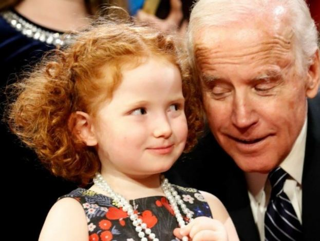 joe biden and little girl.JPG